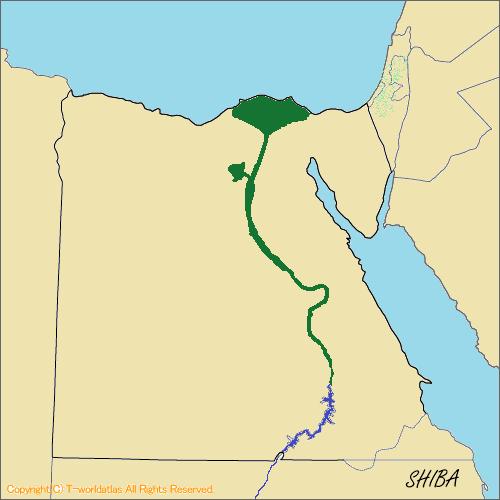 エジプトの地形