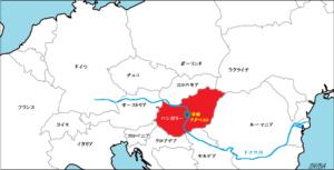 ハンガリー位置図