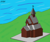 ウルネスの木造教会